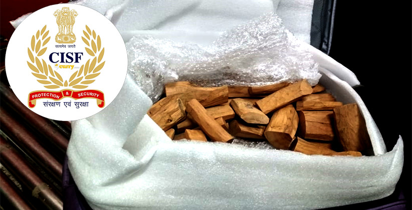 """CISF Nabs 2 Passengers With """"Red Sandalwood"""" Worth Rupees 19 Lakh At IGI Airport"""