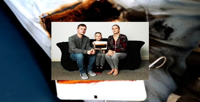 Samsung Tablet Burns Hole In Bed Inches From Sleeping 11-Year-Old Boy