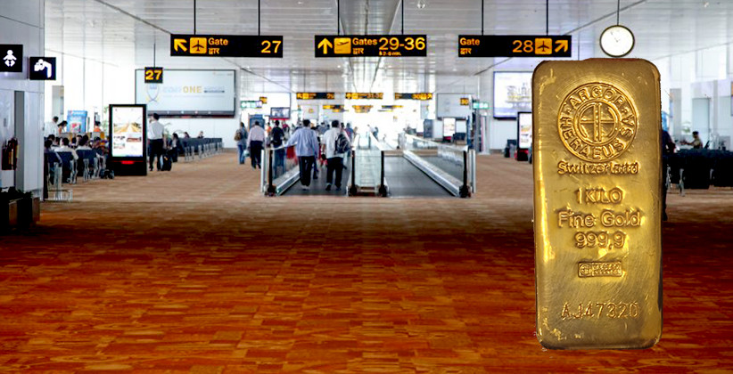 Gold Bar Weighing One Kilogram Found At Delhi Airport