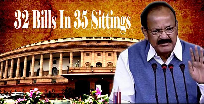 Rajya Sabha Passes 32 Bills In 35 Sittings; Best In 17 Years