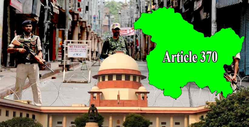 SC Discusses Referring The Matter Concerning Abrogation of Article 370 To A Larger Bench: Kashmir Issue