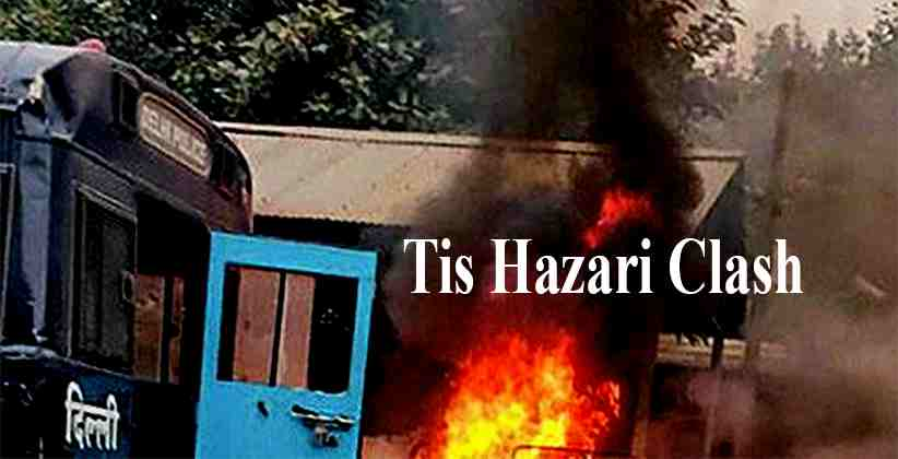 Delhi Police Identifies Woman Lawyer Accused Of Torching A Police Bike During The Tis Hazari Clash