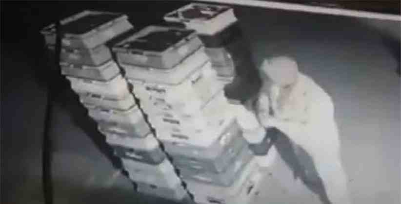 Policeman Caught On CCTV Stealing Packets Of Milk In Noida