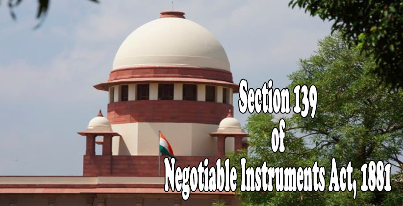 139NIAct Can Not Be Rebutted Supreme Court