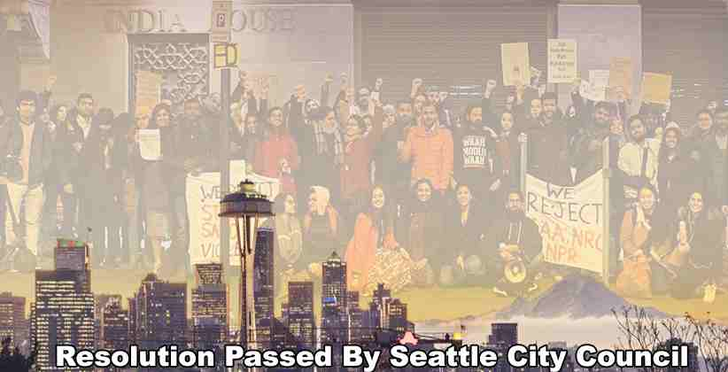 Resolution Passed By Seattle City Council Against CAA and NRC