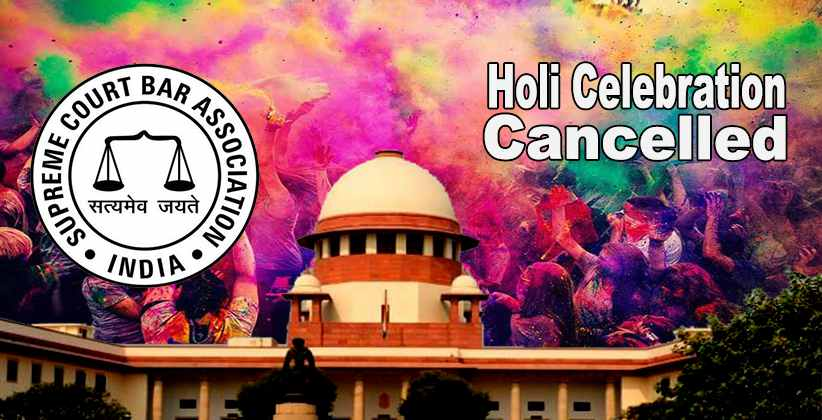 Supreme Court Bar Association Cancels Holi Celebration