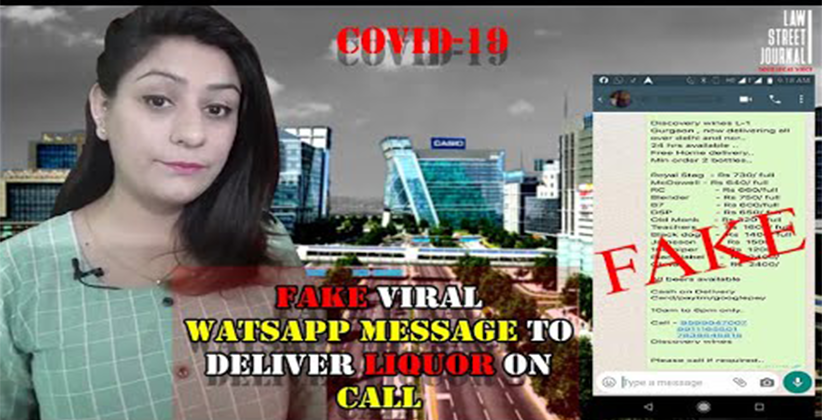 Fake viral Whatsapp message to deliver liquorFake viral Whatsapp message to deliver liquor