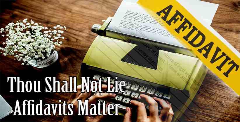 Affidavits Matter