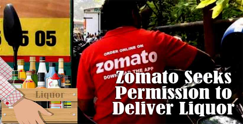 Amid Lockdown, Zomato Seeks Permission to Deliver Liquor