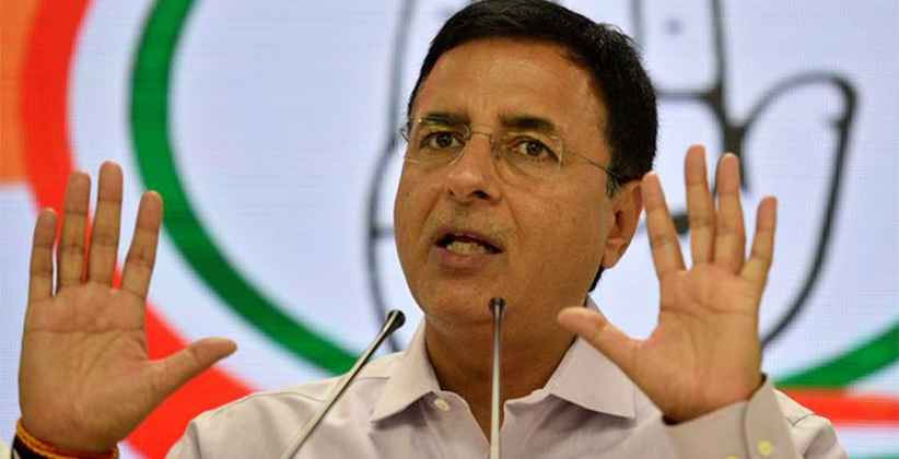 No Nation Wide Plan Randeep Surjewala Of Congress
