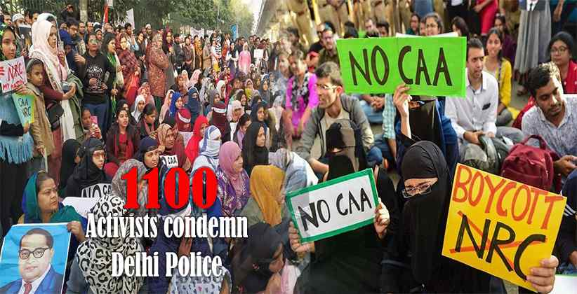 Activists condemn Delhi Police