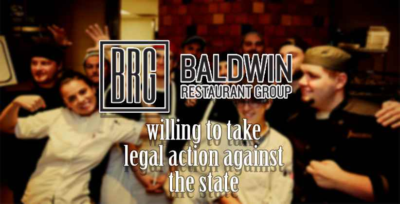Baldwin restaurant group willing to take legal action against the state