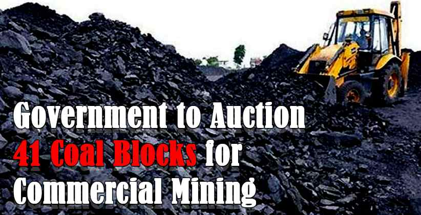 Government to Auction Coal Blocks for Commercial Mining
