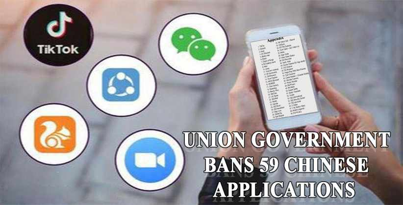 Union Government Bans Chinese Applications