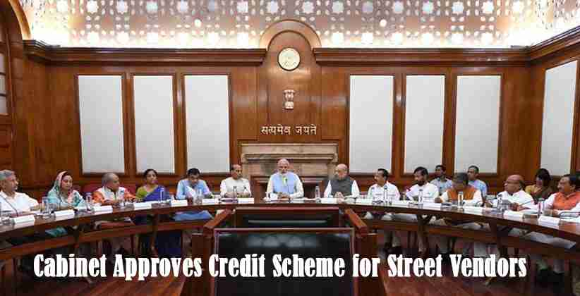 Cabinet Approves Credit Scheme for Street Vendors