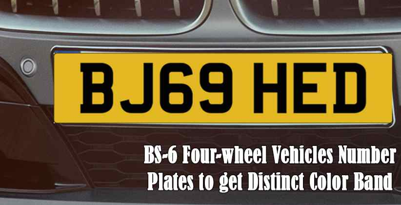 Number Plates to get Distinct Color Band