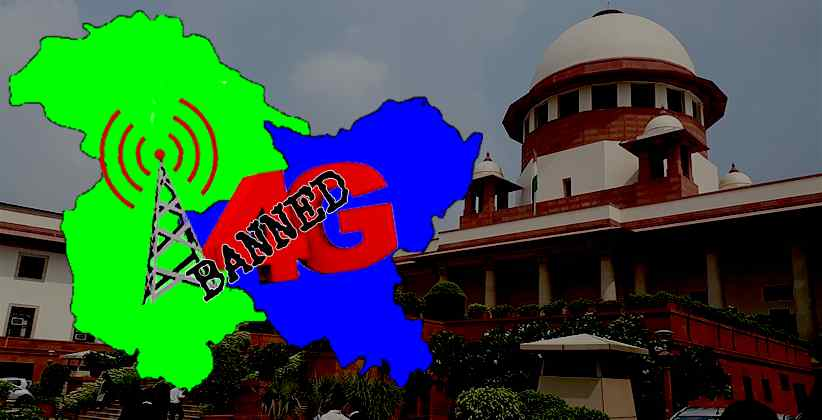 Jammu Kashmir 4G Internet ban