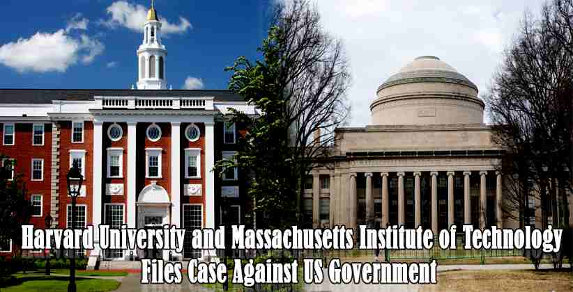 Harvard University MIT Files Case Against USGovernmentHarvard University MIT Files Case Against USGovernment