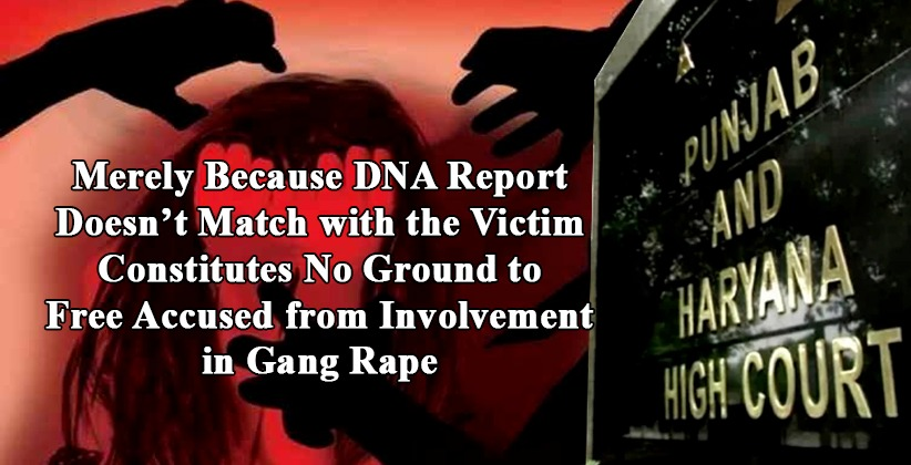 Merely Because DNA Report Doesn't Match with the Victim Constitutes No Ground to Free Accused from Involvement in Gang Rape: P&H HC [READ ORDER]