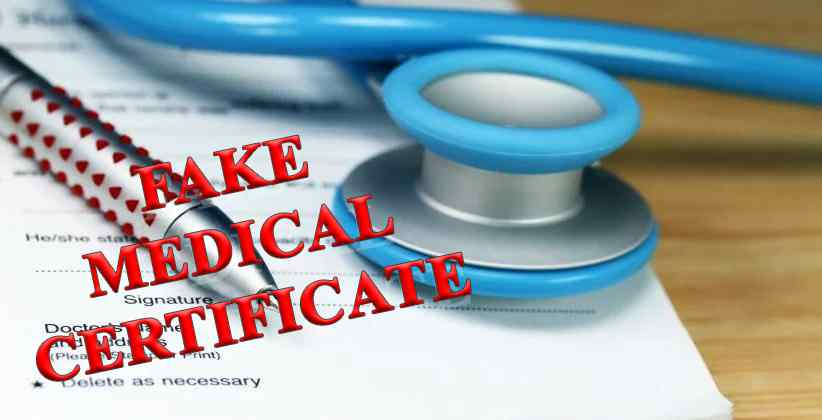 Doctor suspected of giving fake medical certificates