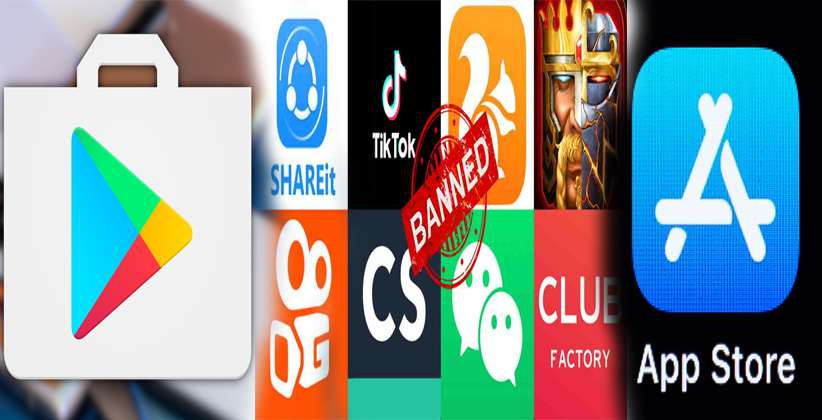 Google Play Store and Apple App Store block access to banned Chinese Apps in India