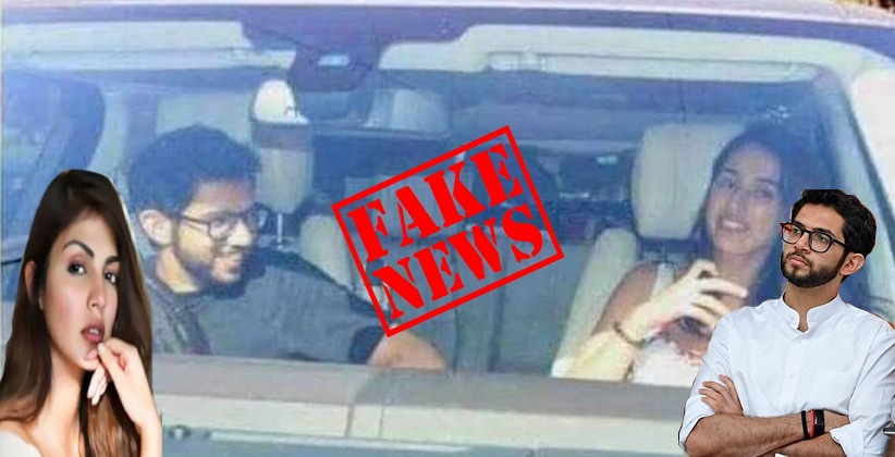 [Fake News Alert] Bollywood Actress with Aditya Thackeray In Viral Image Is Not Rhea Chakraborty