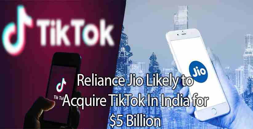 Reliance Jio Likely to Acquire TikTok In…