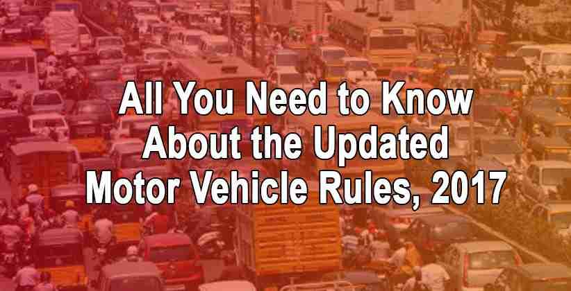 Motor Vehicle Rules