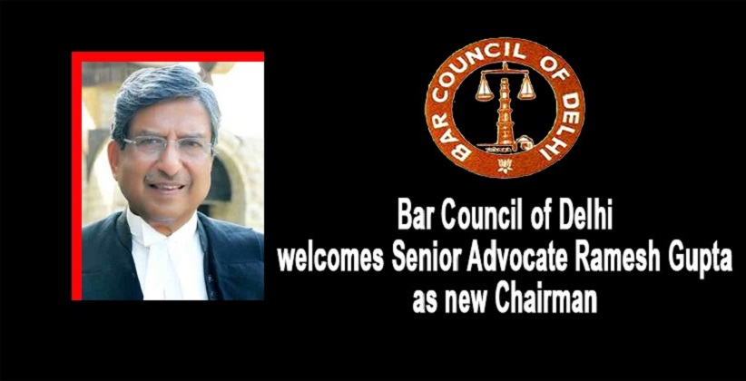 Bar Council of Delhi welcomes Senior Advocate Ramesh Gupta as new Chairman