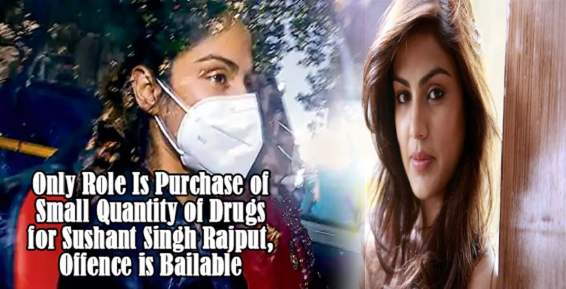 Only Role Is Purchase of Small Quantity of Drugs for Sushant Singh Rajput, Offence is Bailable: Rhea Chakraborty's Lawyers in Bail plea before Bombay HC