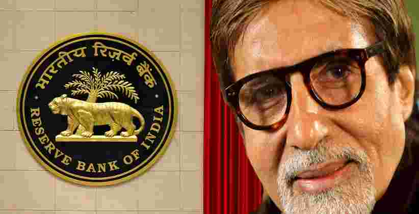 Reserve Bank of India Amitabh Bachchan