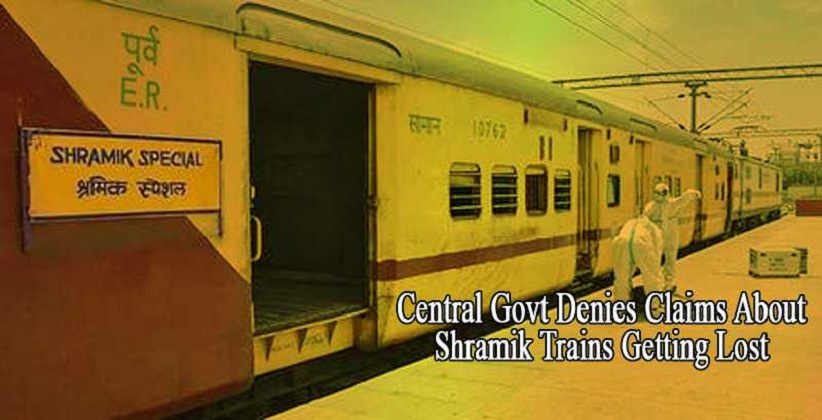 Central Govt Denies Claims About Shramik Trains Getting Lost; Says Special Arrangements for Meals Were Made