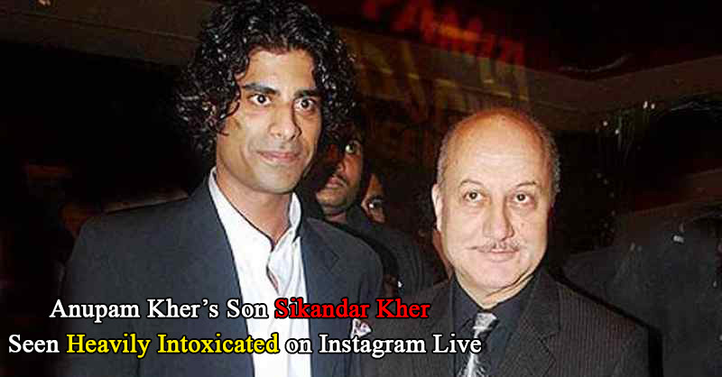 Anupam Kher Sikandar Kher Instagram Live