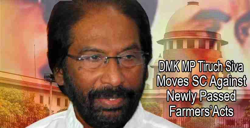 DMK MP Tiruch Siva Farmers Act