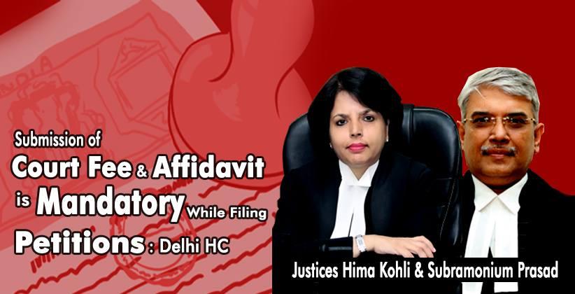 Delhi HC Court Fee Affidavit