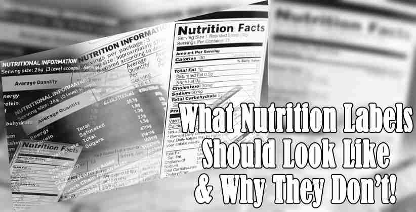 What nutrition labels should look like and why they don't!