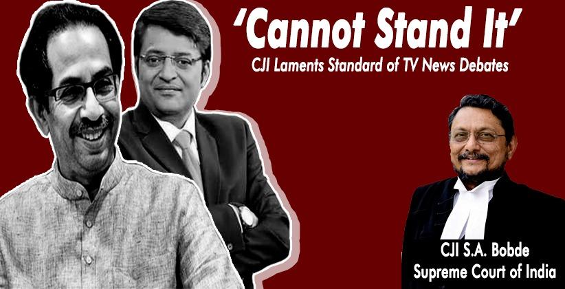 'Cannot Stand It': CJI Laments Standard of TV News Debates