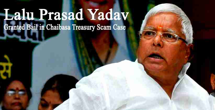 Jharkhand HC Grants Bail to Lalu Prasad Yadav in Chaibasa Treasury Scam Case