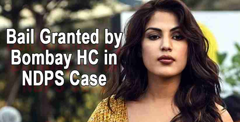 Rhea Chakraborty Bail Granted