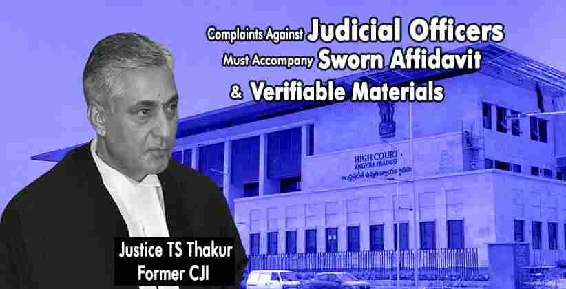 Justice TS Thakur, while he was the Chief Justice of India