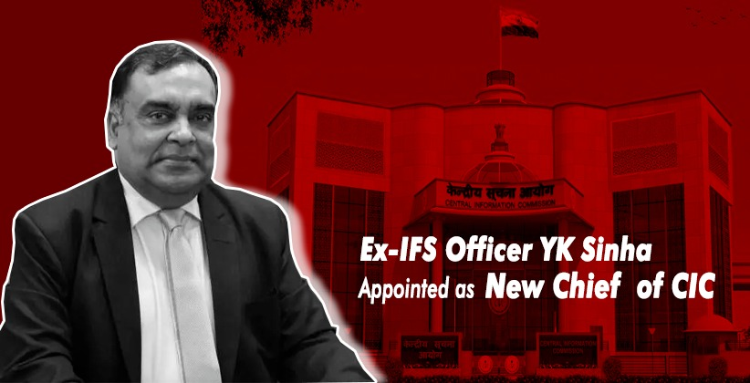Centre Appoints Ex-IFS Officer YK Sinha…