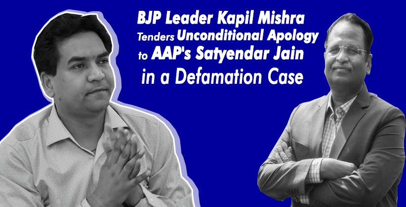 BJP Leader Kapil Mishra Tenders Unconditional Apology to AAP's Satyendar Jain in a Defamation Case