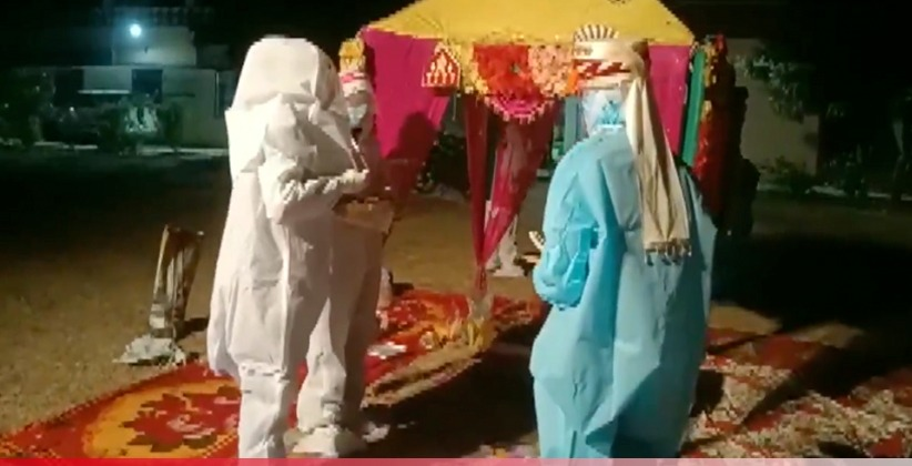 Rajasthan Couple Ties Knot in PPE Kits after Bride Tests COVID-19 Positive