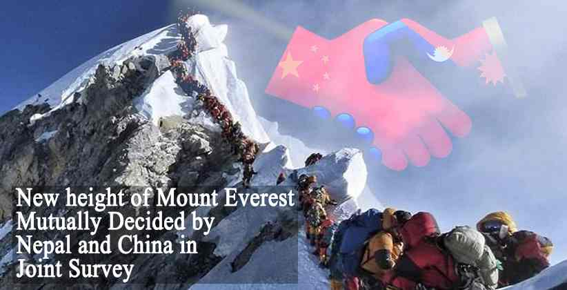 height of Mount Everest Nepal China
