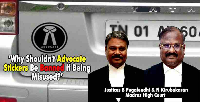 Advocate Stickers Madras HC