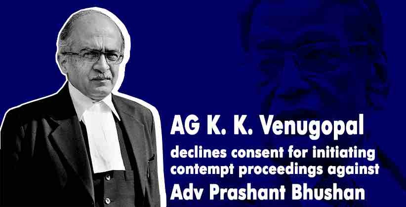 Prashant Bhushan Venugopal contempt proceedings