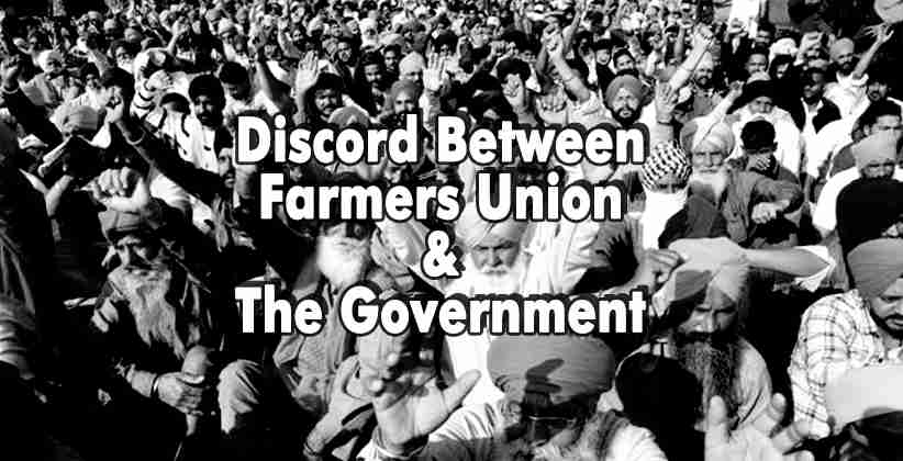 Discord Between Farmers Union & The Government