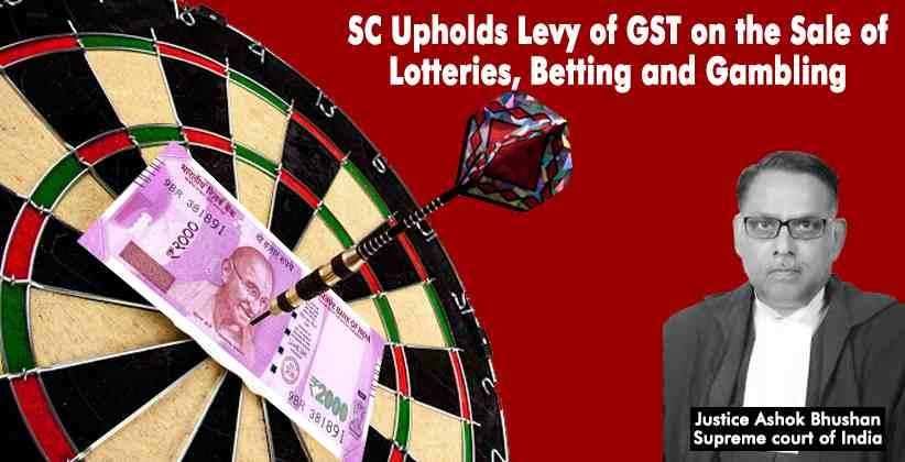 Online Gambling Supreme Court GST