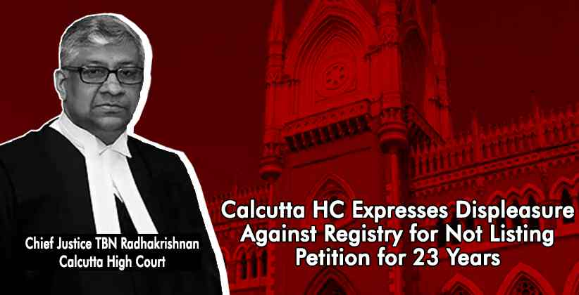 Pending Petitions Calcutta High Court