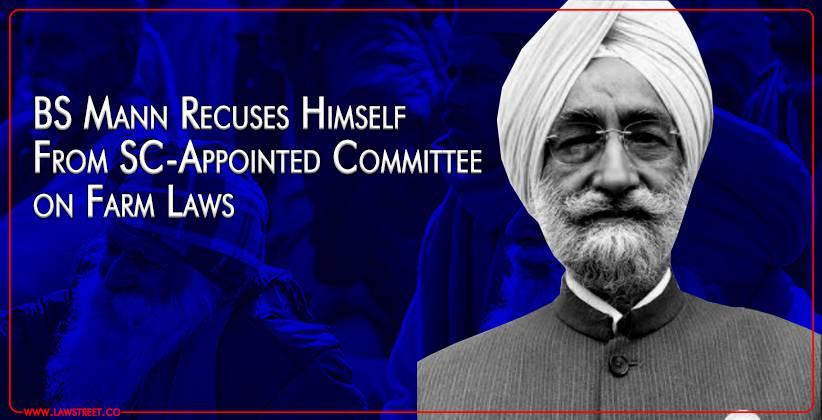 Bhupinder Singh Mann farmers protest Bill